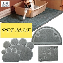 2017 New High Quality Cat Litter Mat Pet Toilet Rug And Carpet PVC Dish Bowl Food Water Tray For Dogs Clean Mats Pet Supplies(China)
