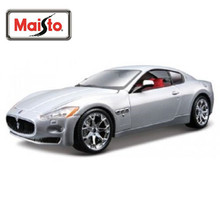Maisto Bburago 1:24 Maserati GT Gran Turismo Silver Color Diecast Model Car Toy New In Box Free Shipping