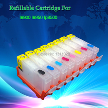 BCI-6B 6C 6M 6Y 6PC 6PM 6G 6R Refillable cartridges WITHOUT CHIP for CANON I9900 I9950 IP8500,8PCS 1 SET,FREE SHIPPING(China)