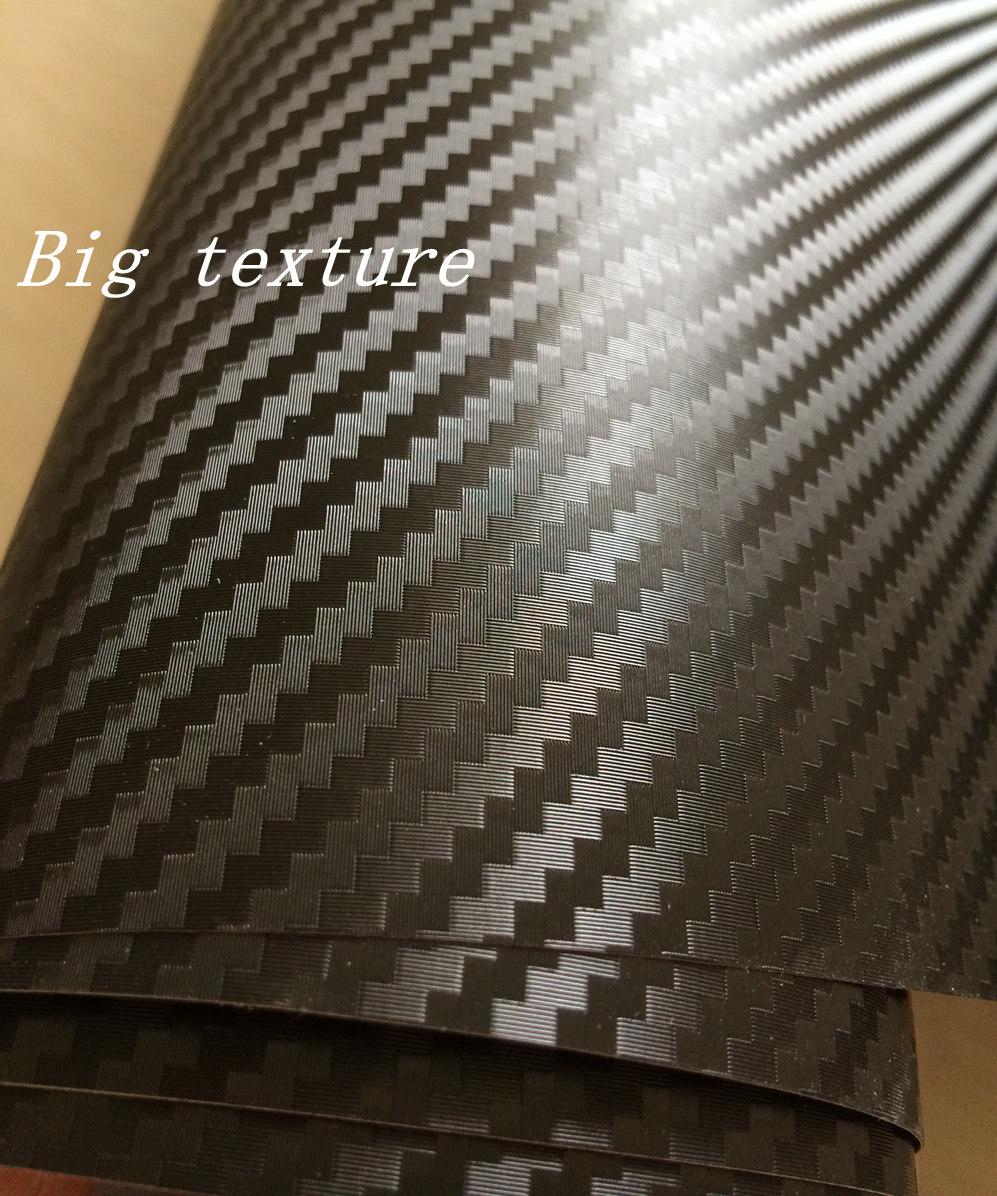 3D Big texture carbon fibre vinyl car wrapping film with air bubble free (4)