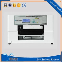 CE certification A3 wood , pvc , ceramic tile inkjet printer eco solvent printing machine(China)