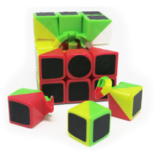 Brand New Carbon Fiber Sticker Puzzle Cube Speed Magic Cube 3x3x3 Fidget Cube Magico Educational Brain Toys For Children Adults(China)