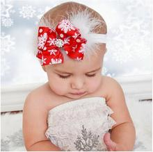 Newborn Headwear Christmas Headband Bow Snowflakes Feathers Beautiful Flowers hair bands Girls Bow Hair Accessories SD88