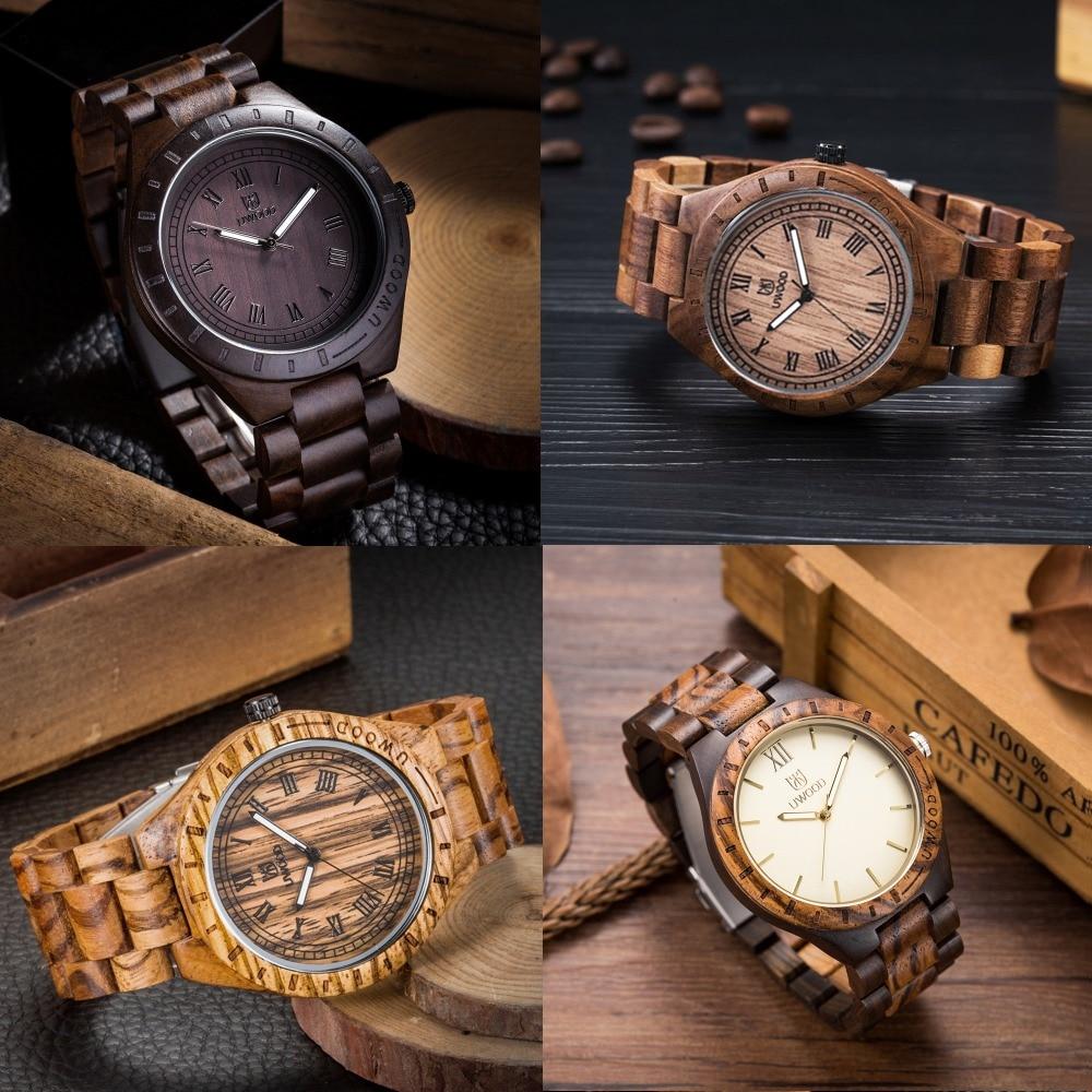 2017 New Mans Wooden Wristwatch Brand Uwood Quartz Watch Natural Sandal Walnut Wood Wristwatch Wooden Watch for Men Women Unisex<br>