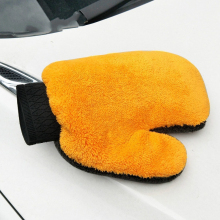 1pc Coral Fleece Velvet Car Wash Gloves Car Cleaning Care Mitt Lined With Waterproof Furniture Glass Dust Cleaner Washer 893622