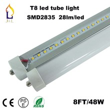 25pcs/lot T8 LED Tube Light 48W/40W 8FT 30W 6FT single pin Fa8  High bright SMD2835 AC85-265V replace indoor lamp neon 28LM/LED