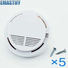 eMastiff Stable Photoelectric Wireless Smoke Fire Detector Sensor 433MHz For Fire Alarm System 433MHZ 5pcs/lot Free Shipping