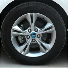 Silver / Blue / Black Stainless Steel Wheels / Rims Sticker For Ford Focus Z2CA553