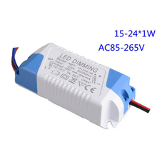 15-24W Silicon controlled constant current power supply 18W 24W LED Dimming Driver for Panel light 10pcs(China)