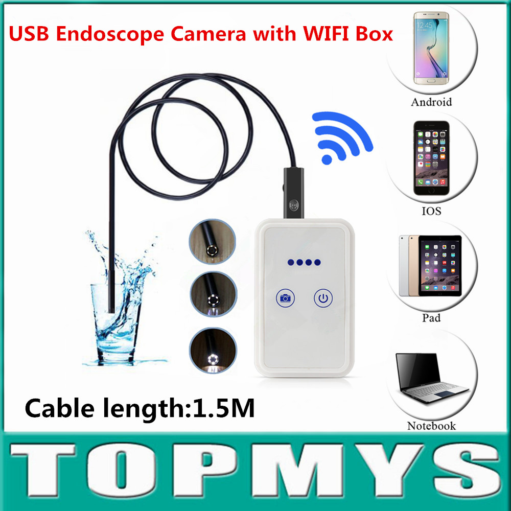 Wireless wifi USB endoscope Inspection Camera TM-WE9 9MM Len cable1.5M USB 2.0 support Andriod ISO PC wifi pinhole camera<br>