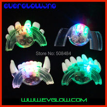 free shipping 576pcs/ lot 1*6.5*3.5cm LED Mouth Guard flashing mouth piece mouth light for halloween party Christmas