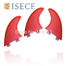 Hot selling FCS fiberglass surfboard fins fiberglass honeycomb surf fin Red G5 fins