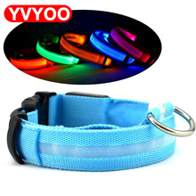 LED Night Flashing Glowing Pet dog Collar, Pet Collar Luminous for Dogs Cats Dog Accessories Dog Supplies(China)