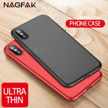 NAGFAK Full Cover PC Matte Cases For iPhone X 10 Case Ultra Thin Hard Back Plastic Phone Case For iphone 10 X Cover Capa(China)
