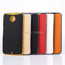Genuine Leather Veneer Gluing Litchi Hard Case cover for Motorola Google Nexus 6 XT1100 XT1103 cases ,Mobile Phone Cases(China)