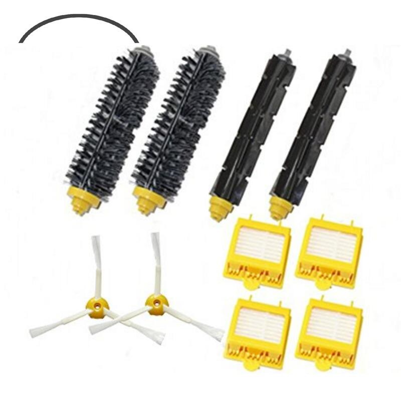 For iRobot Roomba 700 Series 3 Armed 760 770 780 Filters Beater &amp; Bristle Brush Side Brush 3 armed Pack Big Kit <br><br>Aliexpress