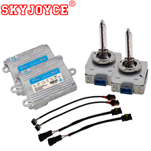 SKYJOYCE Original 35W D8S Xenon HID Headlight kit White 5500K Fast Bright D8S kit Dipped Low Beam Light New Mustang Headlight(China)