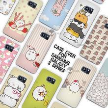 The Cutest Kawaii Box Potatoes and rabbits Clear Case Cover Coque Shell for Samsung Galaxy S3 S4 S5 Mini S6 S7 Edge Plus(China)