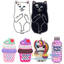 For iPhone 4s/ 5 5s/ SE/ 6 6s 7/ 6 Plus 6s Plus 7 Plus Pocket Cat Unicorn Ice Cream Silicone Rubber Cell Phone Cases Covers