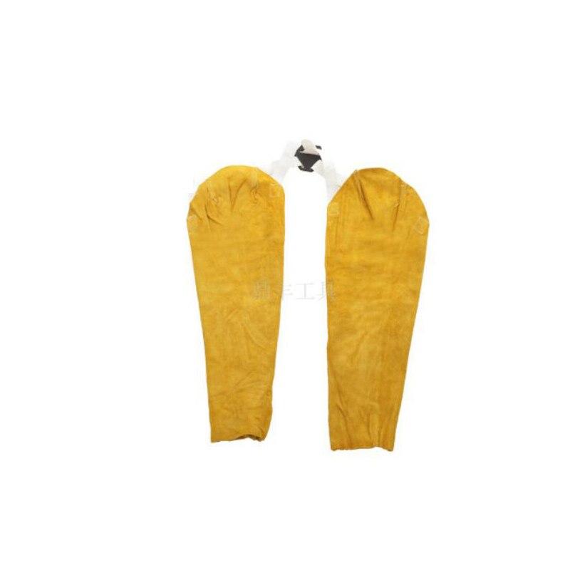 Welding Sleeve Cowleather Gauntlets Welder Leather Protective Sleeve LU0123<br>