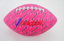 Rubber American Football Solid Rubber Ball Pink Color