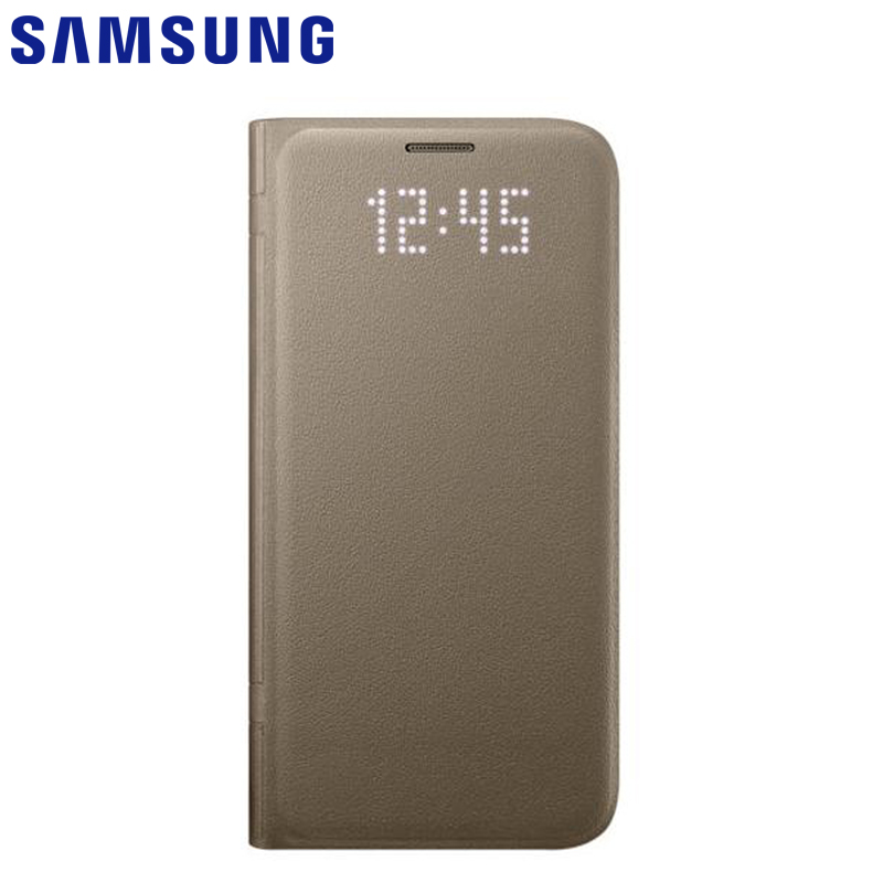 SAMSUNG Original LED View Cover Smart Cover Phone Case For Samsung GALAXY S7 edge G9350 S7 G9300 Slim Flip Smart phone C