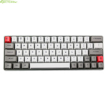 Metal Shell GK64 Mini Mechanical Keyboard Custom Lights Directiion Key RGB Mechanical keyboard With Sublimation PBT Thick Keycap(China)