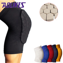 1PCS Honeycomb Basketball Knee Pads Leg Sleeves Cellular Football Volleyball Soccer Kneepad Calf Support Leg Warmer