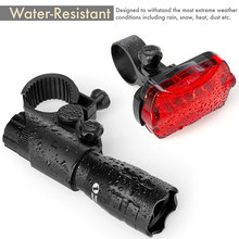 Easy To Mount Super Bright Bicycle Light Both Headlight and Taillight with Quick Release System Best Front and Rear Lighting(China)
