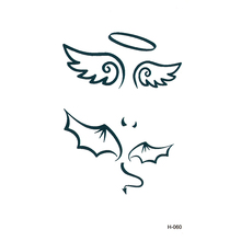 10 pcs Elf angel wings tattoo stickers waterproof anti-sweat simulation cover the scar tattoos painted black men and women