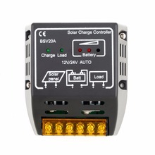 High Quality 1PCS 20A 12V/24V Solar Panel Charge Controller Battery Regulator Safe Protection black