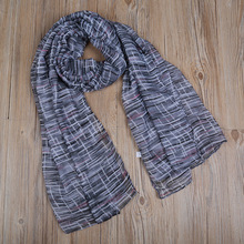2017 Newest Women Printed Pattern Scarf Cotton Voile Scarf 6Colors 10PCS/lot(China)