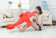 huge plush lovely whale toy red big fish doll dolphin toy gift about 100cm