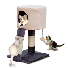 Domestic Delivery Cat Climbing Frame Pet House Climbing Ladder Kitten Playing Ball Pet Furniture Scratching Post High Quality(China)