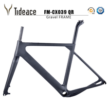 2018 China NEW arrival Aero Road or MTB Bike Frame S/M/L size Cyclocross Frame Disc Bike Carbon Gravel frame QR or thru axle