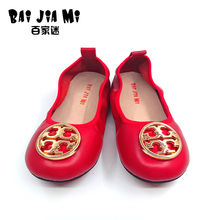 BAIJIAMI Bling Little Girl Soft Cow Leather Shoe High Quality 2017 Spring Summer Autu Fashion Chinese Style Children Flat Shoes(China)