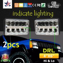 CO LIGHT Led Driving Light 1 Pair 4X6'' 24W 20W H4 Headlight Hi Lo Beam for Kenworth/Peterbilt/Daf/Foden 4x4 Offroad(China)