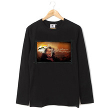 Bob Marley lion fron zion tie dye style pattern patchwork Full Long Sleeve tee t shirt(China)