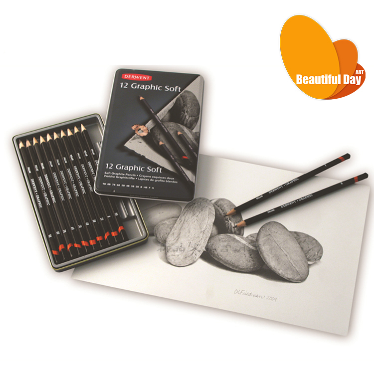 Derwent Professional Iron Box Gift Set Art Drawing Pencils<br>