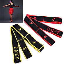 1pc Kids Adult Elastic Latin Band Expander Pilates Yoga Stretch Resistance Band Fitness Crossfit Dance Training Bands(China)