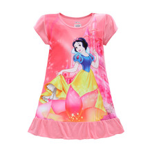 Girls Dresses Sofia Mermaid Minnie Mouse Elsa Anna Kids Pajamas Nightgowns Sleepwear Princess Clothes Set 4 5 6 7 8 9 Years(China)