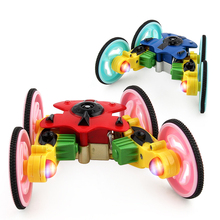 Buy New 360-Degree Rotating Remote Control Stunt Car Flip Color LED Lights Rotary Remote Control Robot Rc Car Control Toys for $21.00 in AliExpress store