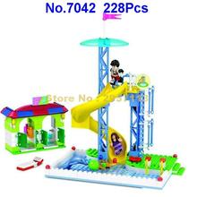 7042 228pcs City Modern Paradise Series Revolving Slide Girl Friend Building Block Brick Toy(China)