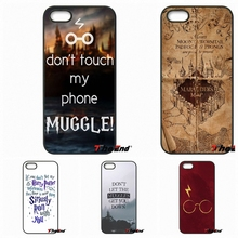 For Xiaomi Redmi Note 2 3 3S 4 Pro Mi3 Mi4i Mi4C Mi5S MAX iPod Touch 4 5 6 Don't touch my phone muggle Harry Potter Movie Case(China)