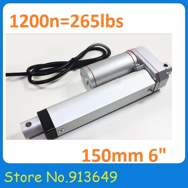 150mm/6 inches Solar Tracker Stroke Electric Linear Actuator 12V DC 120KG Load 6.5mm/sec Speed Mini Linear Tubular motor motion<br><br>Aliexpress