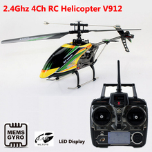 WLtoys V912 2.4G 4ch RC Helicopter Single Propeller Large 52cm radio control Helicoptero Gyro RTF Free Shipping(China)