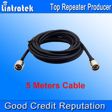 Wholesales 5 Meters 50ohms Cable Top Quality 5D Coaxial Cable 5m N Male to N male for Signal Repeater Booster and Antennas #