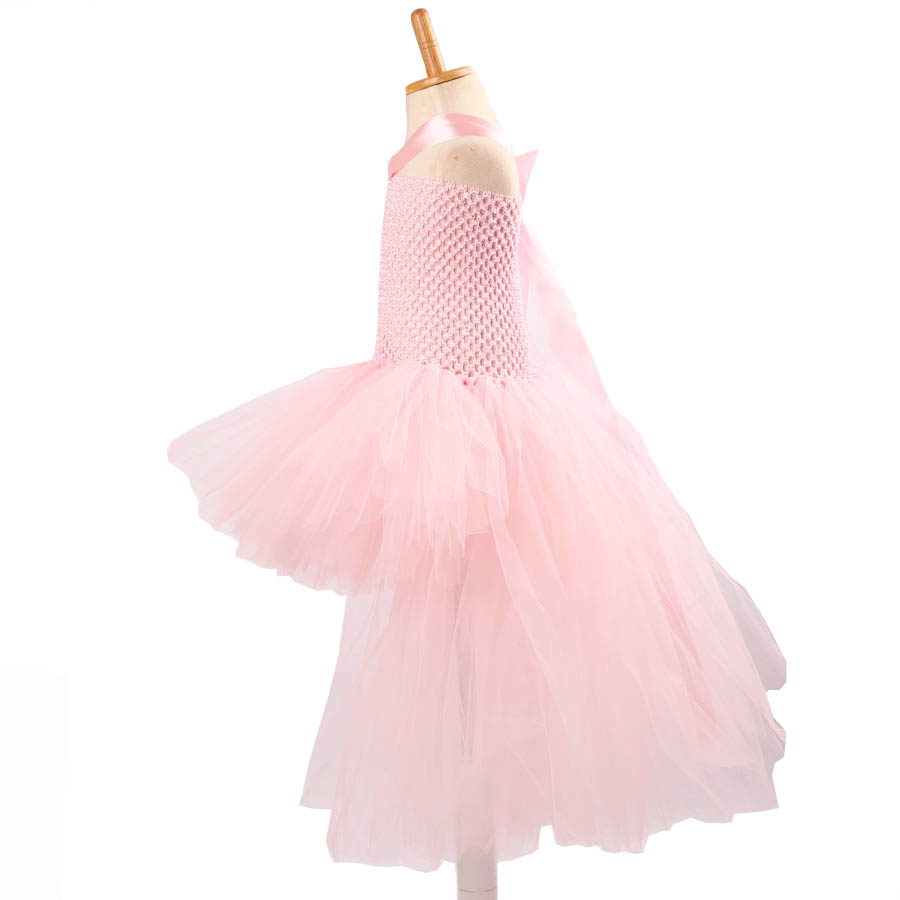 Gorgeous Light Pink Girls Tutu Dress for Photo Shoot Birthday Party Wedding Kids Dress up Costume Pink Fancy Ball Gown (7)