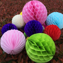 "Free Shipping 5pcs/lot 12"" 30cm Paper Flowers Honeycomb Balls Hanging paper lantern For Wedding Party Christmas Decoration"