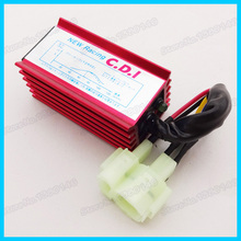 Red Racing 6 Pin AC CDI Box For GY6 50cc 125cc 150cc ATV Quad Moped Scooter Buggy Motorcycle